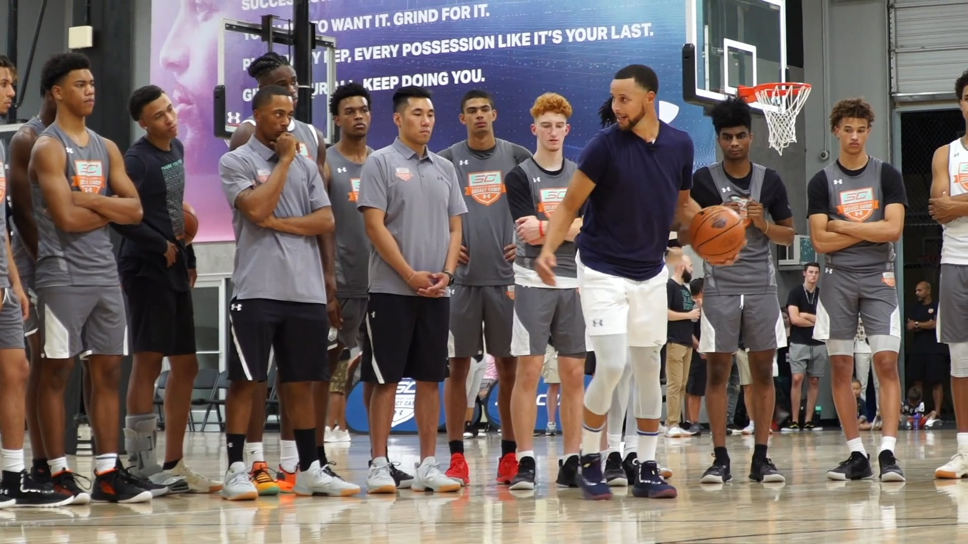 Stephen Curry leading by example as a teacher and mentor at the 5th annual SC30 Select Camp