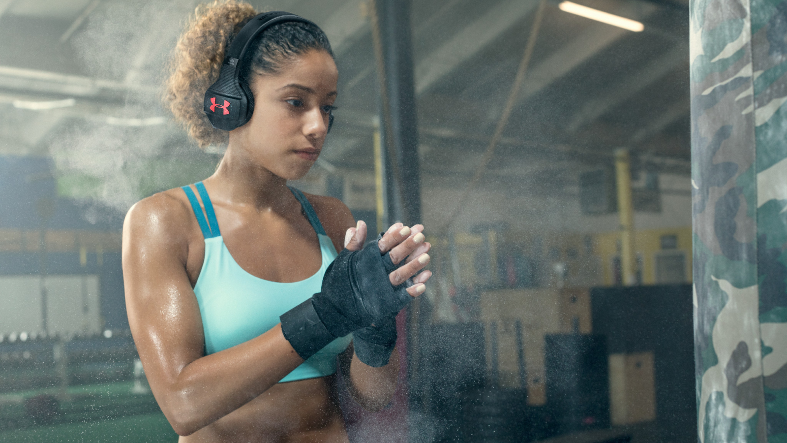 8e6a034d0eb The beat drops today with the UA Sport Wireless Train headphones available  for pre-sale now for $199 at UA.com, JBL.com and available for purchase at  select ...