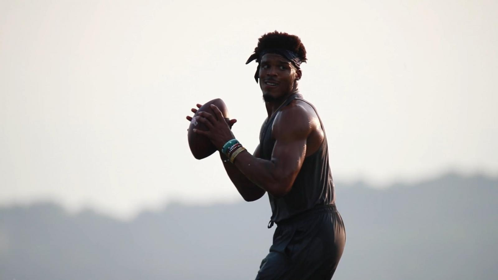 Under Armour shares a look behind Cam Newton's offseason regimen designed by trainer Nate Costa