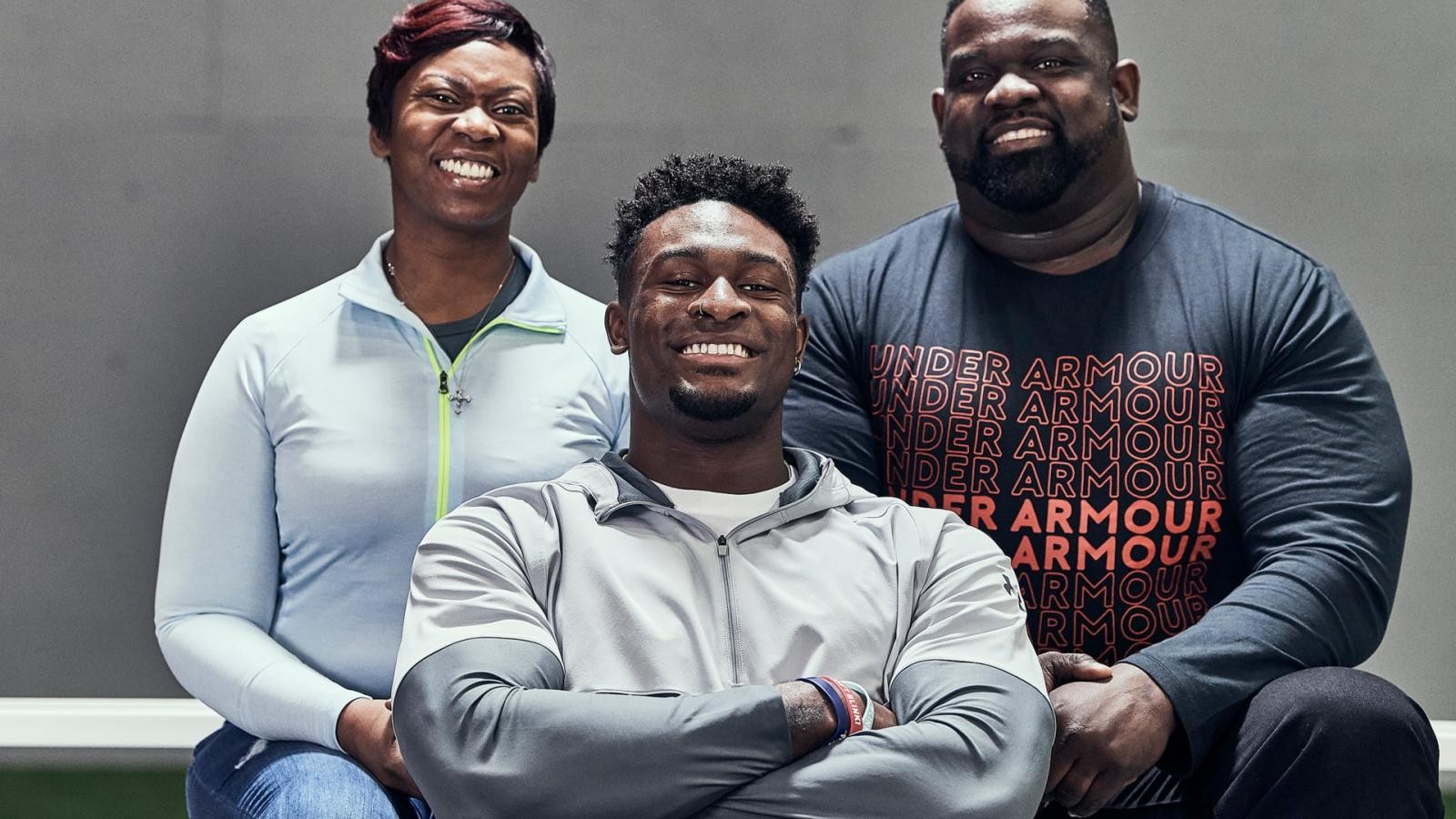 D.K. Metcalf's parents, Tonya and Terrence, introduce their son into the Under Armour family
