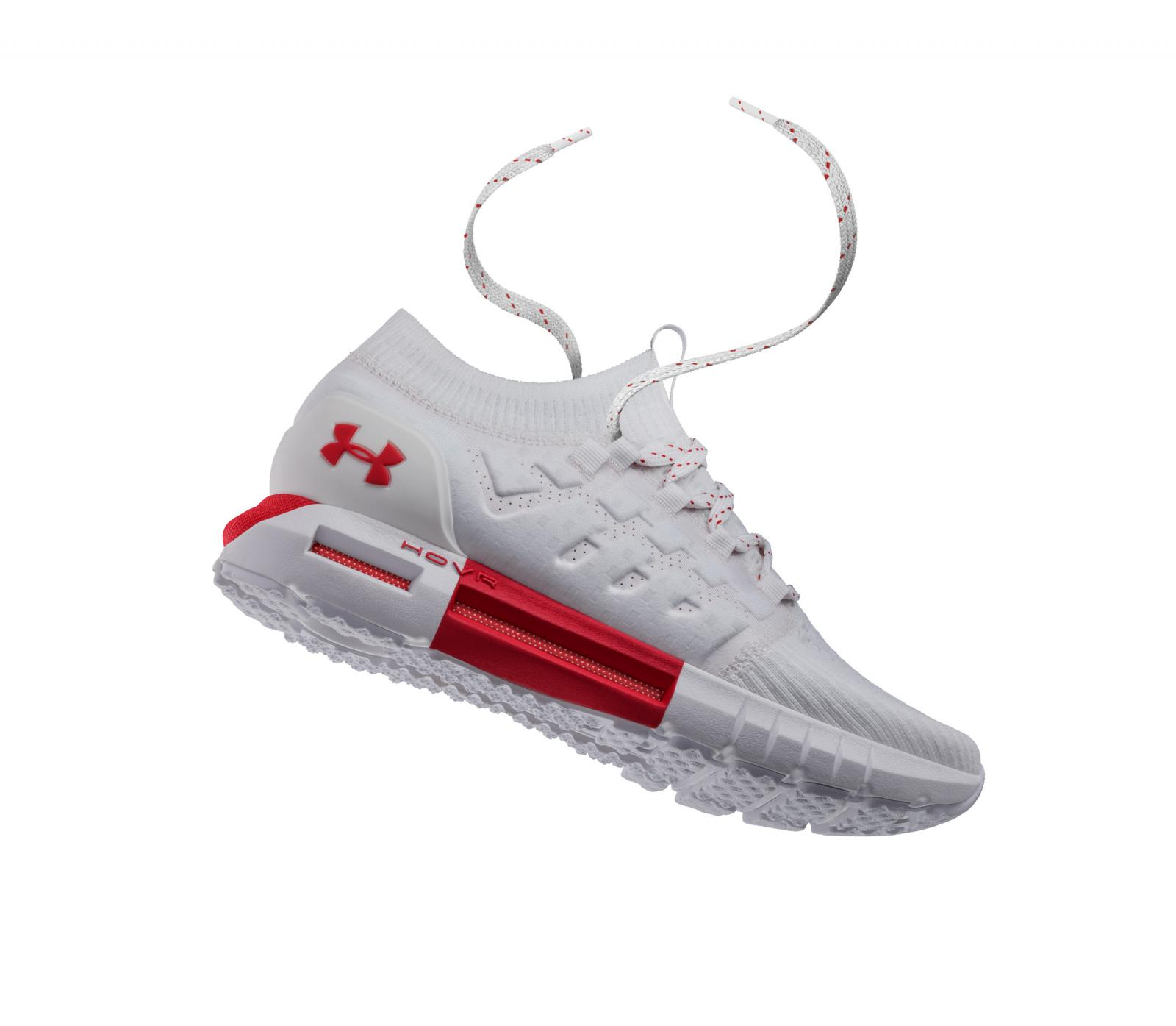 New UA HOVR Phantom White/Red