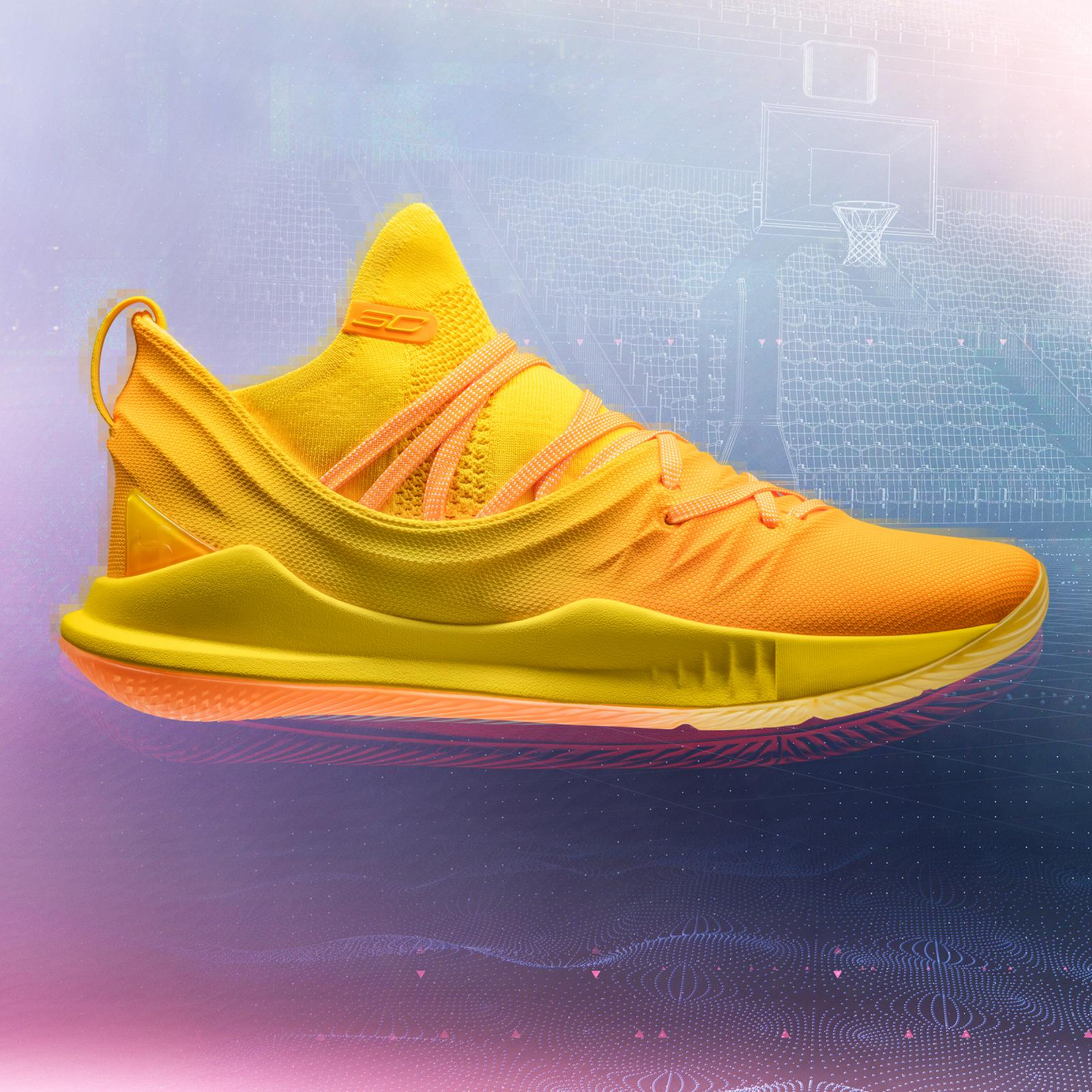 This yellow exclusive colorway of the Curry 5 is available only for fans in Manila, Wuhan and Tokyo.