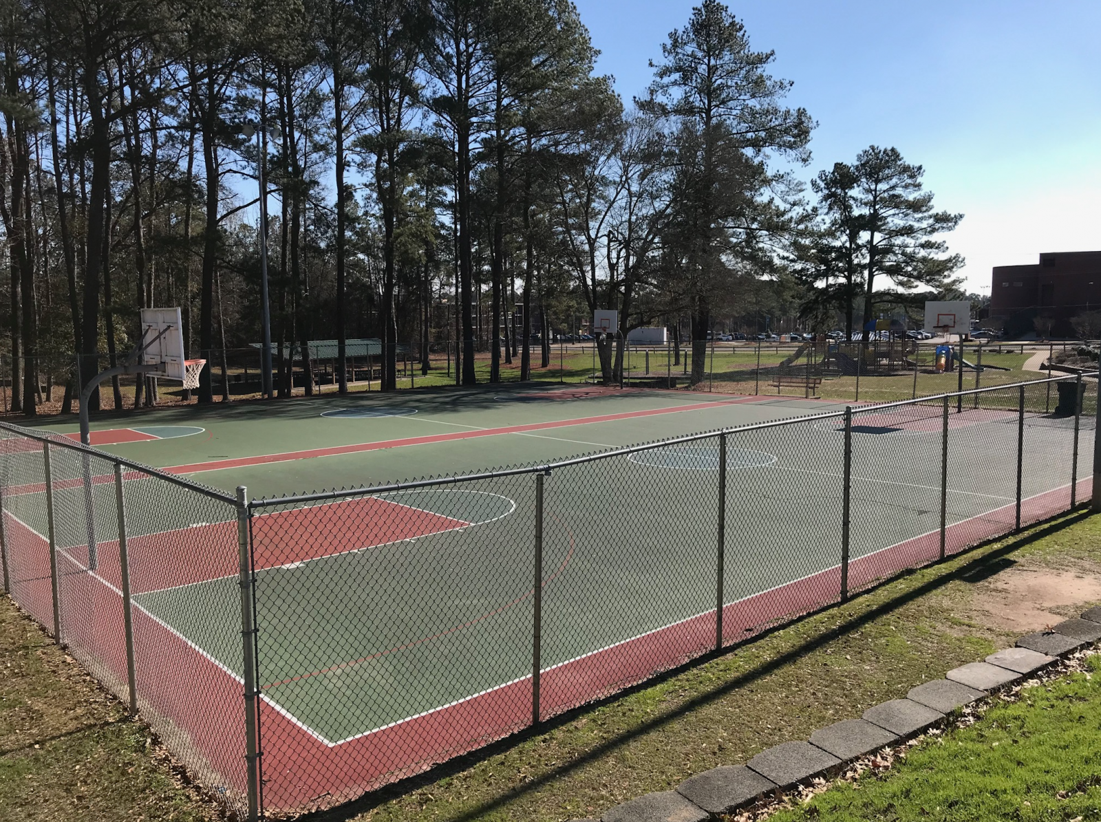 Seabrook Park Basketball Courts at Smith Recreation Center - Before Refurbishment