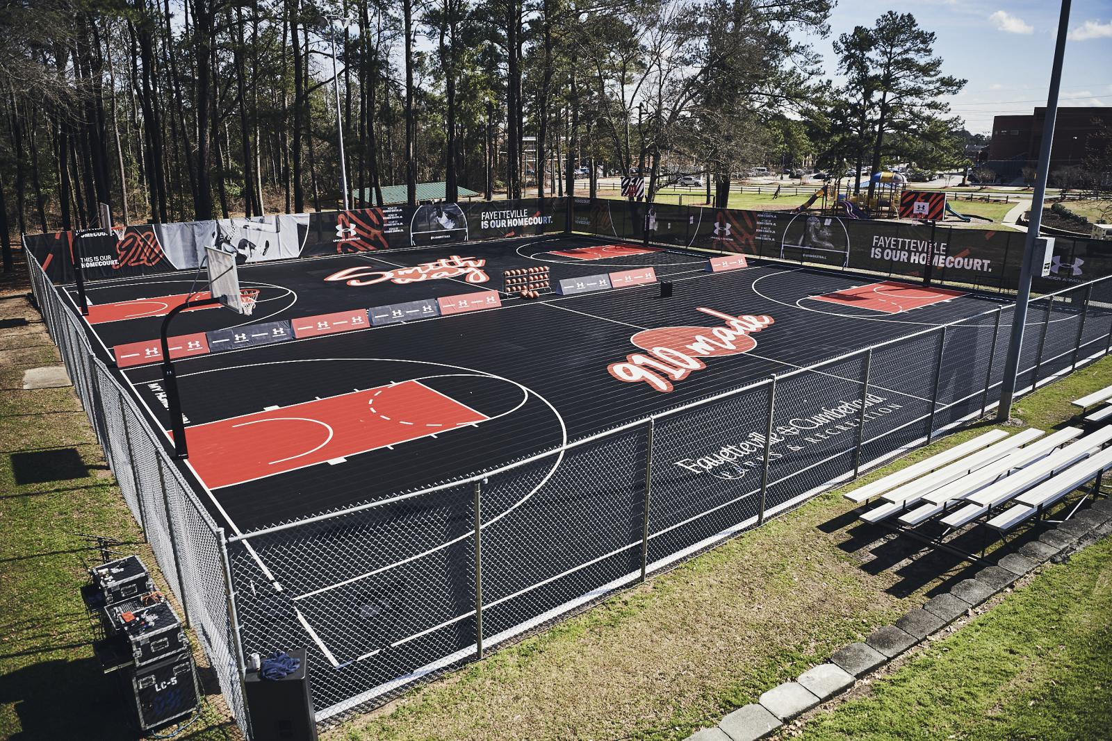 Seabrook Park Basketball Courts at Smith Recreation Center - After Refurbishment