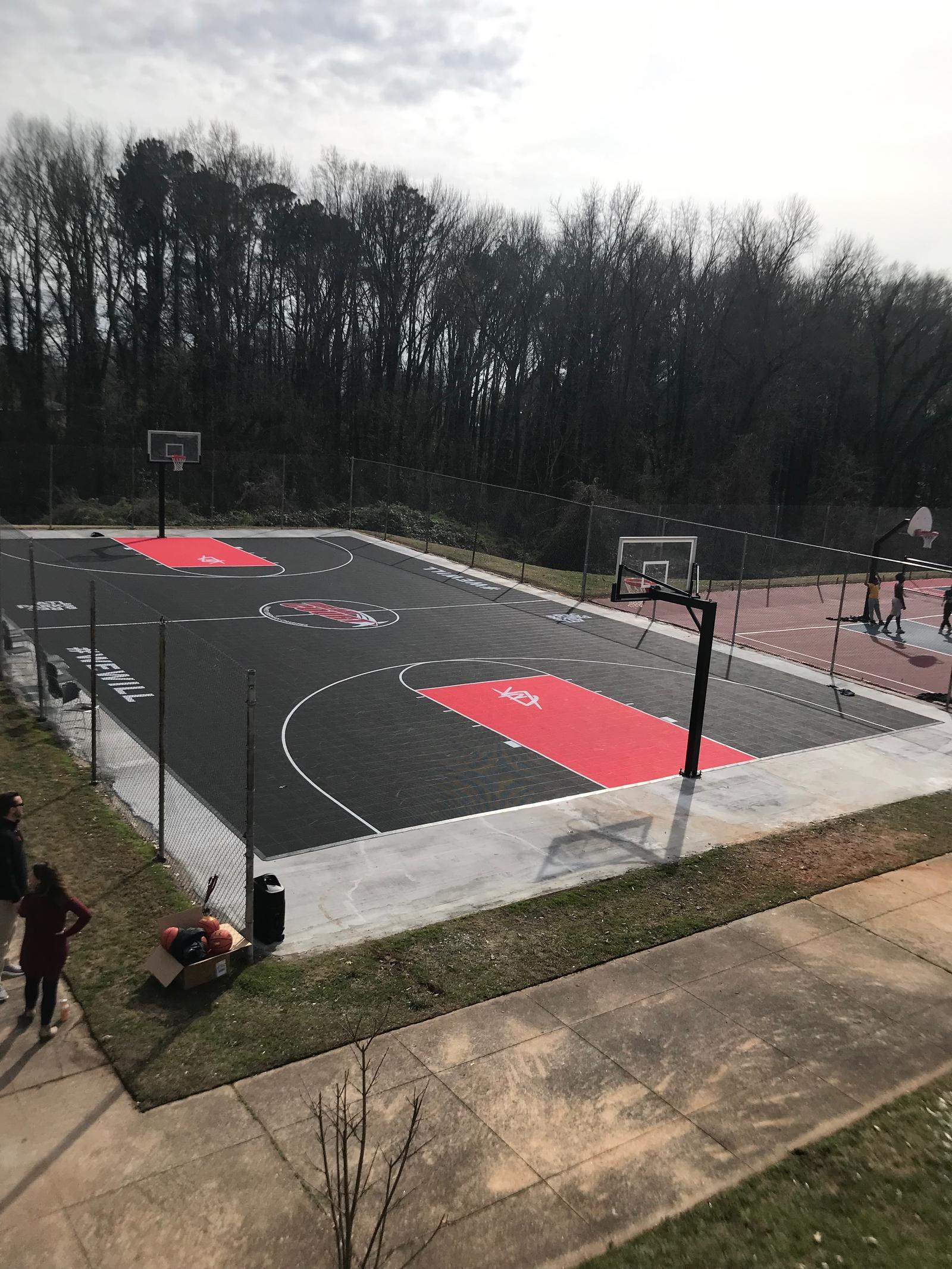 After the outdoor court refurbishment