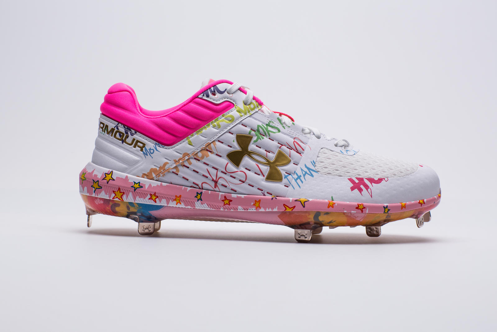 96eb82d28064 Bryce's UA Harper 3 Mother's Day cleats are available for everyone who  plays the game (and wants to show their mom some love) on UA.com.