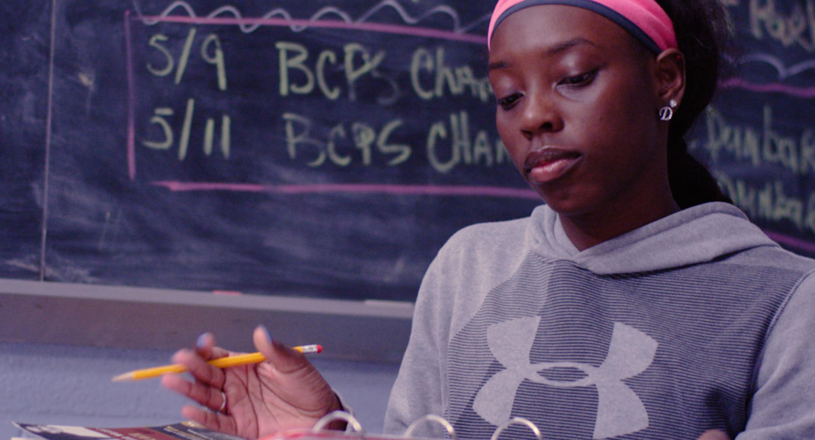 This Baltimore student-athlete works as hard in the classroom as she does on the track.