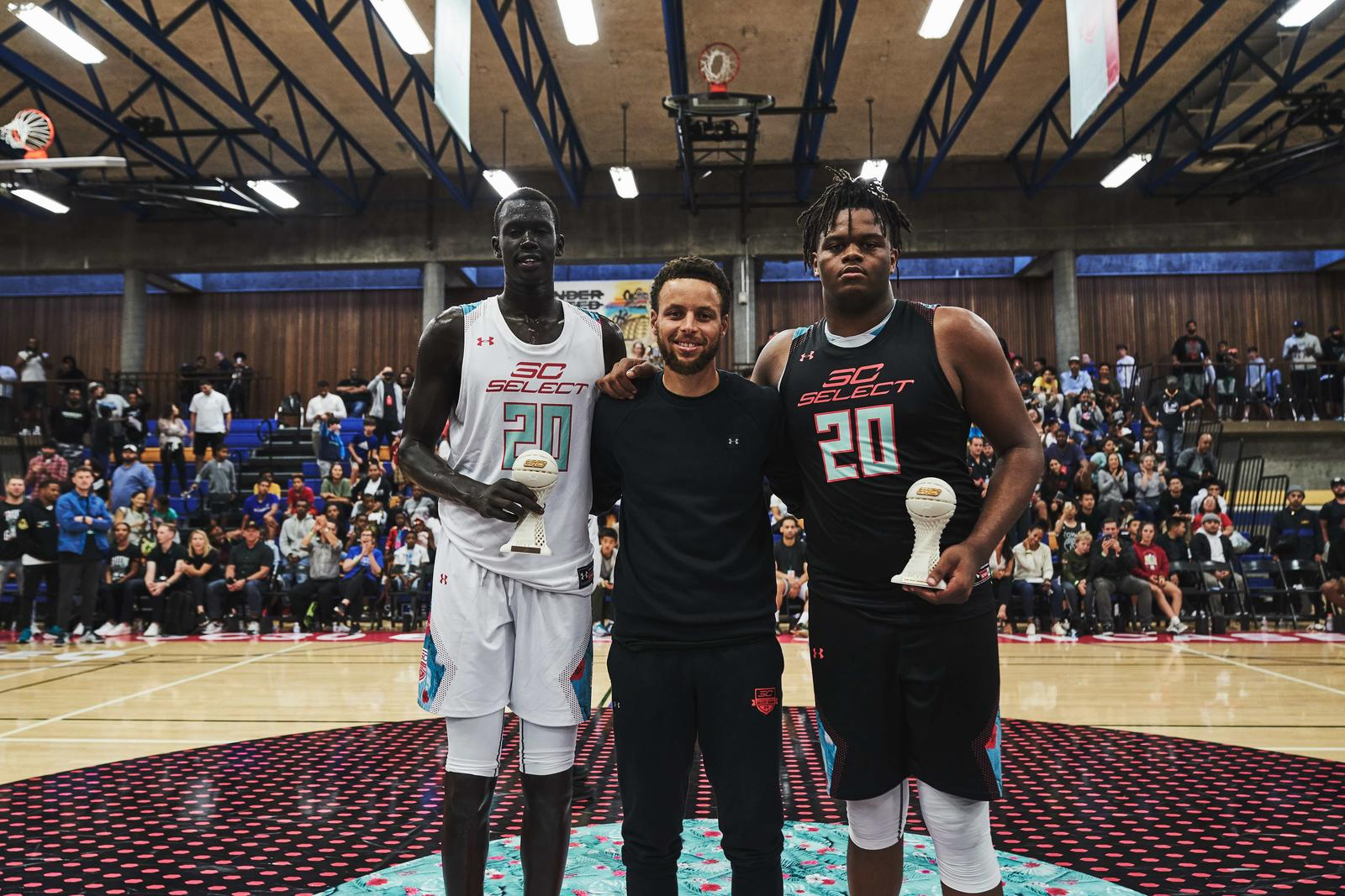 Makur Maker and Eddie Lampkin took home game MVP awards, and Jalen Suggs took home Most Outstanding Player honors for the entire camp.
