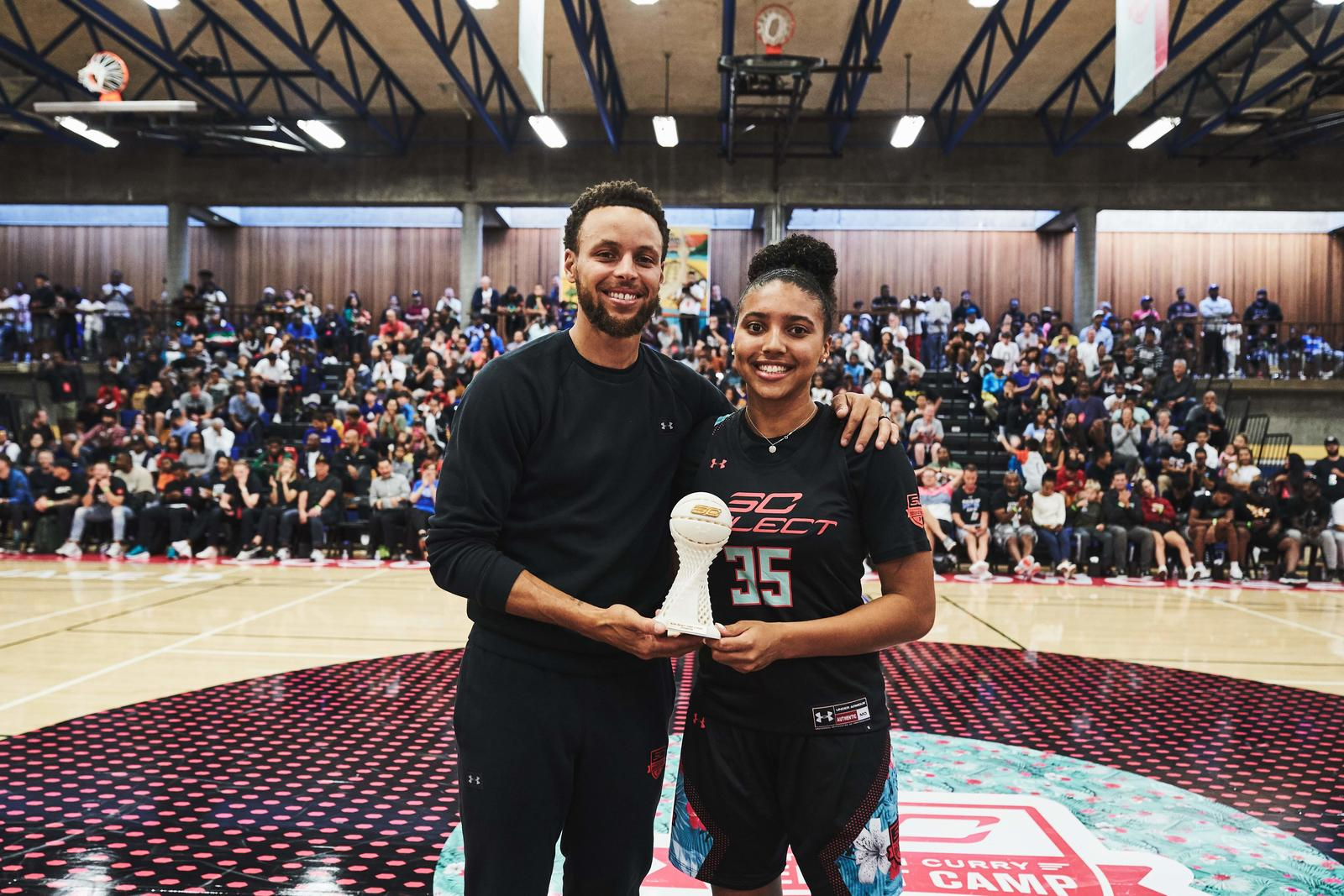 Azzi Fudd won the 3-point contest for the second straight year, drowning 20buckets in the opening round and 15 in the final round, edging out Zeb Jackson's 14 head-to-head.
