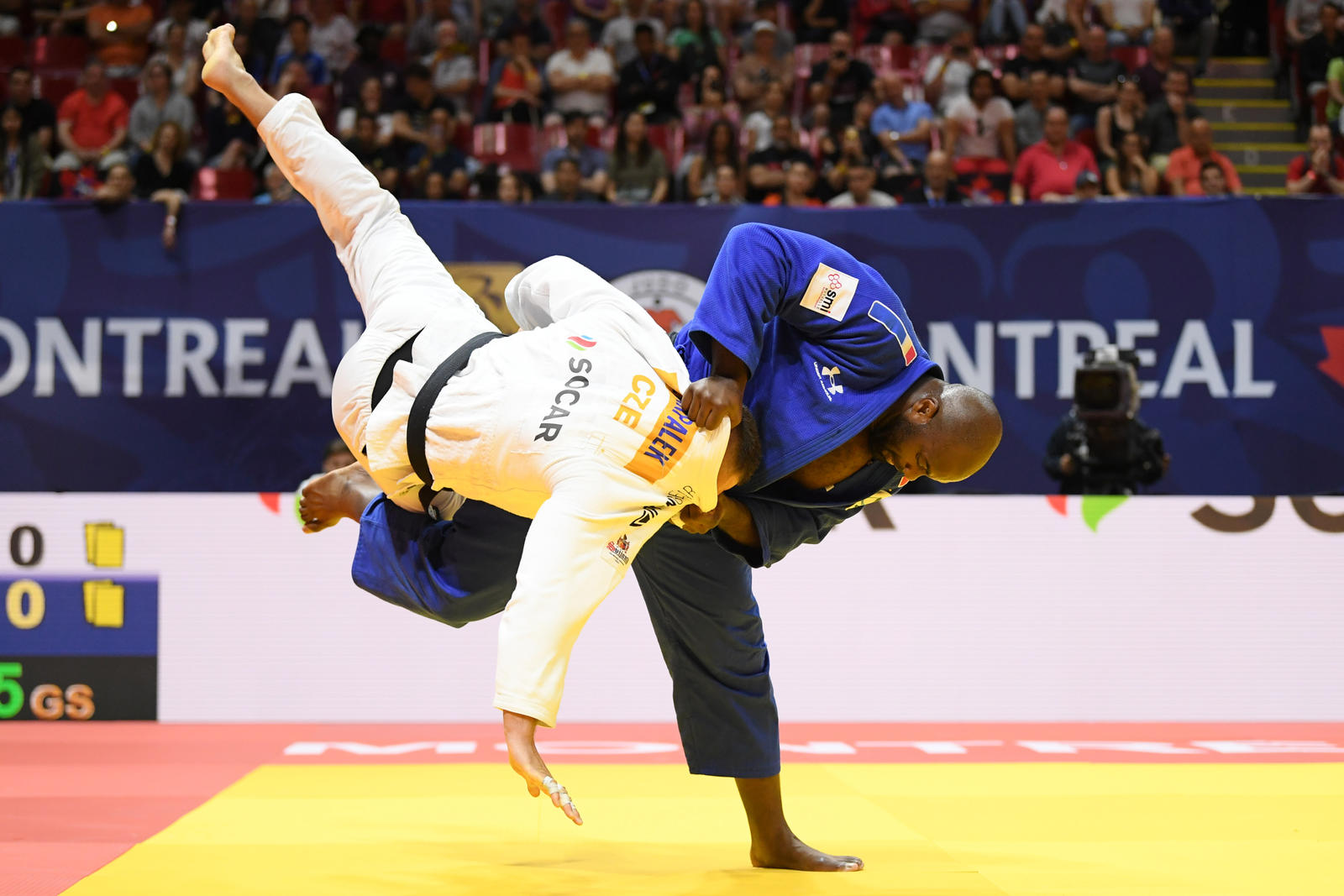 Teddy Riner at the 2019 Montreal Grand Prix (photo credit: Philippe Millereau/KMSP)