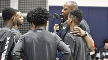 NBA Legend Caron Butler assisted with coaching the youth on-site