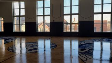 The completed court by Project Backboard